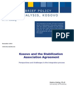 Kosovo and the Stablization Association Agreement_KAS_November2013