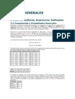 2 Clase II. Sulfuros, Arseniuros, Sulfosales