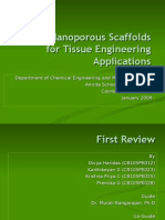 Scaffolds for Tissue Engineering Applications - First Review (27 Jan 2009)