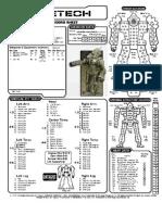 Battletech Centurion CN9 A Profile sheet
