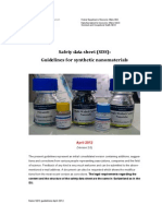 Guidelines for Synthetic Nanomaterials