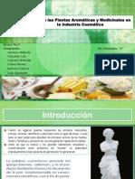 Plantas Aromáticas y Medicinales en Industria Cosmética
