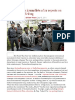 Thai Navy Sues Journalists After Reports on Rohingya Trafficking