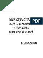 Curs Urgente Diabetologice