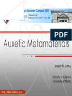 Auxetic Metamaterials Fin