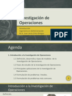 [Investigación de Operaciones] Introducción a la IO