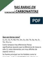 Tierras Raras en Rocas Carbonatitas