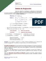 Modelo de Asignacion