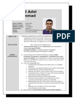Ahmad Adel's CV Last
