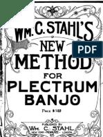 Stahl-Plectrum Banjo Method 1920