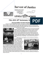 Harvest of Justice Fall 2013