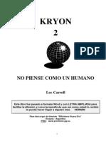LEE CARROLL - Kryon 2 No Piense Como Un Humano