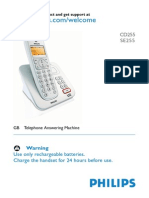 Manual for a cordless phone