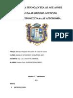 MANEJO INTEGRADO DEL CULTIVO DE CAÑA DE AZUCAR