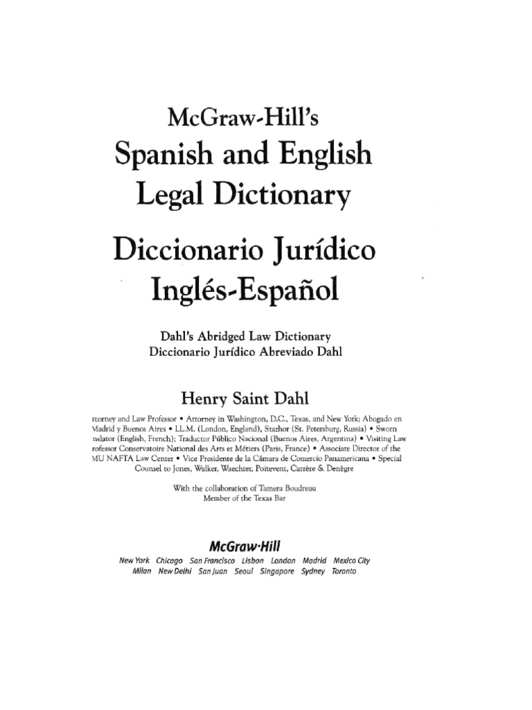 Spanish and english legal dictionary offer and acceptance prosecutor fandeluxe Gallery