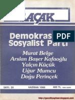 saçak dergisi-sayı 29-haziran 1986