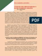 Sota - Sobre La Dictadura Del Proletariado y La Lucha de Clases en Albania (1983)