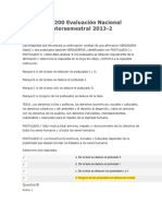 Evaluación Nacional Intersemestral 2013 COMPETENCIAS COMUNICATIVS ALES