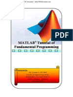MATLAB Tutorial Fundamental Programming