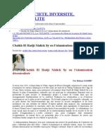 Cheikh El Hadji Malick Sy ou l'islamisation décentralisée  - Bakary Sambé