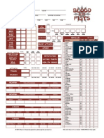 Blood and Fist Character Sheet