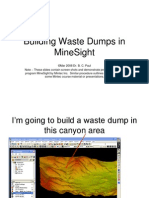 Building Waste Dumps in MineSight