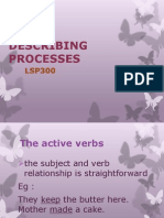 Describing Processes