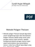 Analisis Curah Hujan Wilayah