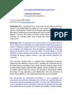 Documentación oficial del conocimiento de Estados Unidos sobre narcotráfico y las Contras.