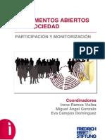 Parlamentos abiertos a la sociedad. Participación y monitorización