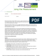 Characterizing the Measurement Process