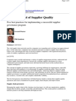 Taking Control of Supplier Quality - Pearce