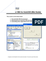 Introduction to VBA for AutoCAD (Mini Guide)