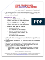 Flu Clinic Flyer- English & Spanish- 8.31.09