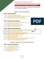 Programa de actividades de Informatica III del Bachillerato BUAP