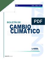 Boletín de cambio climático - Marzo 2011