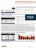 RPData Weekend Market Summary Week Ending 2013 December 22