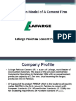 Lafarge Cement Value Chain