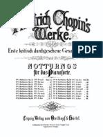 Chopin Werke Band 4 Notturnos