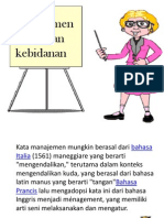 Powerpoint Manajemen Pelayanan Keb.