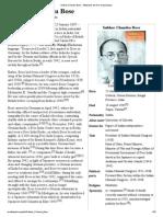 Subhas Chandra Bose - Wikipedia, The Free Encyclopedia
