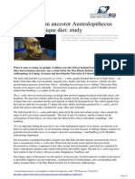 Ancient Human Ancestor Australopithecus Sediba