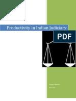 Productivity in Indian Judiciary