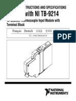 National Instruments 9214 manual