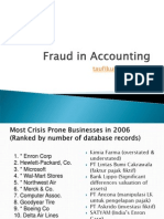 Fraud in Accounting