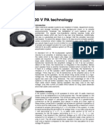 Know-How 100 v PA Technology
