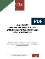 Análisis Costo-Tiempo entre Pilas de Fundacion Suelo-Cemento y Pilotes