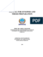 Manual for Synopsis and Thesis Preperation