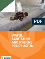 ACF Water Sanitation Hygiene Policy 2008