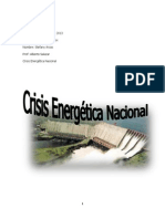 Crisis Energetica Nacional (STEFANY ARCOS ) 5TO B